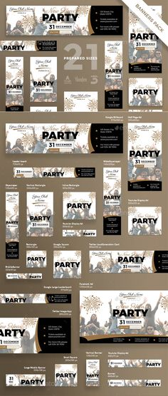 New Year Party Banner Pack