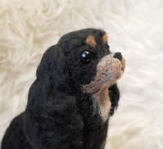 needle felted Cavalier King Charles Spaniel made by Willane