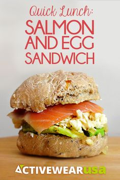 Salmon & Egg Sandwich - a #healthy and filling lunch or breakfast option.