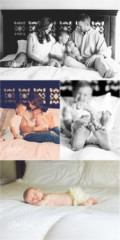 Newborn photography | LoveBud Photography. Love sprawled out snoozing on the bed... or the chair. or the footrest.