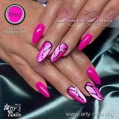 Acrylic Nails Designs - Our 50 Most Eye Catching Nail Designs Pink Gel Nails, Gel Nail Colors, Fancy Nails, Gel Nail Art, Trendy Nails, Cute Nails, Neon Nails, Simple Nail Art Designs, Acrylic Nail Designs