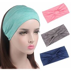 4 Pack Headbands, V-FYEE Women Elastic Head Wrap - Yoga Stretchy Knotted Hair Band -- For more information, visit image link. (This is an affiliate link) #PersonalCareProducts
