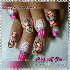 Different nail by Tancinha Castro. Unghie different di Tancinha Castro. Crazy Nail Art, Crazy Nails, New Nail Art, Nail Art Diy, Love Nails, Diy Nails, Pretty Nail Designs, Pretty Nail Art, Nail Art Designs