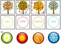 Pro Šíšu: Období LÉTO Seasons Activities, Preschool Learning Activities, Properties Of 2d Shapes, Season Calendar, Classroom Themes, Kids Education, Four Seasons, Kids And Parenting, Kids Playing