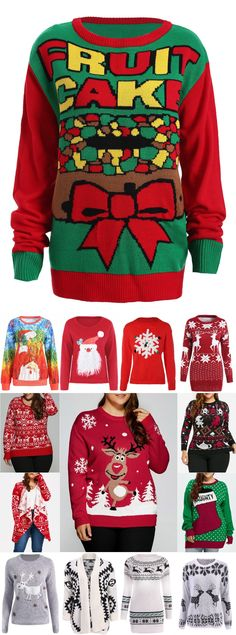 Christmas Sweater In Women Cheap Wholesale Online Sale Cute Christmas Sweater, Ugly Xmas Sweater, Christmas Shirts, Xmas Sweaters, Christmas Books, Christmas And New Year, Diy Christmas, Merry Christmas, Making Ideas