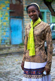 Ethiopian girl smilling in the street - Mekele, Tigrai, Ethiopia, via Flickr.