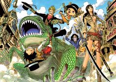 One Piece crew team as cowboys, Straw Hats, chapter 457 cover picture