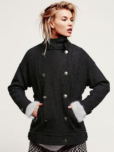 Free People Jenny's Military Sweater Jacket at Free People Clothing Boutique