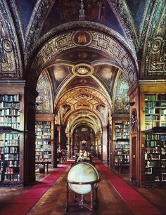 Library from the East, University Club, New York, NY. A gazillion books and great architecture.