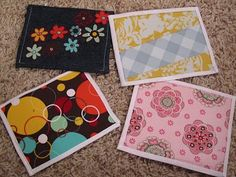 fabric post cards for play and for real... some much fun!!