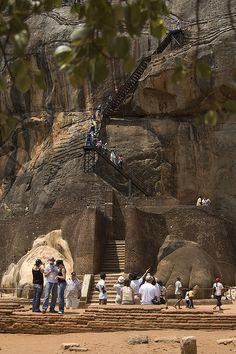 The Lion's Platform, about half way up Sigiriya Rock, Sri Lanka