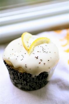Lemon Poppy Seed Cupcakes with Citrus Glaze...oh my!