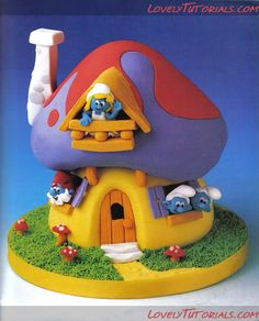 smurfs cake Tutorial!!