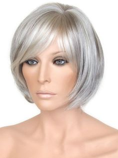 Short Hair Styles For Older Women 2017 Easy Care için resim sonucu Grey Hair  Wig e4f39fd154