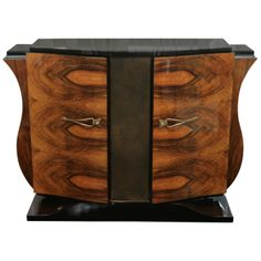 Art Deco Walnut Burl Sideboard | From a unique collection of antique and modern sideboards at http://www.1stdibs.com/furniture/storage-case-pieces/sideboards/