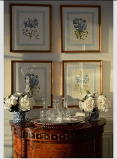 french matting on botanical prints found at the enchanted home shop What's Decoration? Decoration may be the art of decorating … Traditional Interior, Traditional House, Traditional Furniture, Traditional Decorating, Traditional Artwork, Traditional Design, Foyer Decorating, Interior Decorating, Decorating Ideas