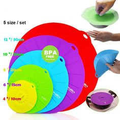 Silicone Microwave Lid Set