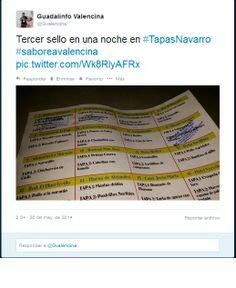 Tercer sello de la cartilla #saboreaValencina en #TapasNavarro