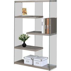 """Monarch Specialties Inc. 60"""" Etagere Bookcase"""