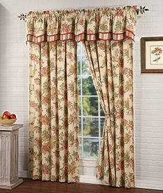 Nottingham is a gorgeous large scaled floral panel.  #Rod #Pocket #Curtains
