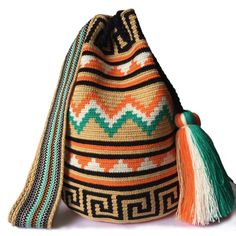 $83.00-$91.00 USD. Each #Wayuubag is one of a kind and has taken from 15-20 days to make, each make has been crafted with love in the desert of La Guajira, Colombia.     www.lombiaandco.com Tapestry Bag, Tapestry Crochet, Tabata, Fair Trade, Women Empowerment, Vivid Colors, Crochet Projects, Bucket Bag, Purses And Bags