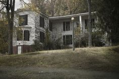 Where evil lurks  Abandoned mansion in Spencer Mountain, NC.