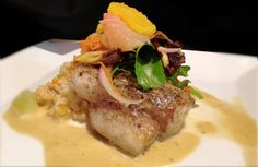 Pan Seared Mahi Mahi ~ Nantucket Bay Scallop Corn Risotto, Orange ...