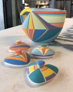 . . . . . #ceramics #ceramic #clay #clayart #claylove #claylife #ceramictiles #ceramictile #ceramicart #ceramiclife #ceramiclove… Ceramic Boxes, Ceramic Clay, Pottery Painting, Ceramic Painting, Clay Texture, Clay Design, Sell On Etsy, Clay Crafts, Carafe