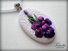Image result for Triada polymer clay Cute Polymer Clay, Polymer Clay Miniatures, Polymer Clay Necklace, Polymer Clay Flowers, Polymer Clay Pendant, Polymer Clay Projects, Polymer Clay Embroidery, Biscuit, Terracotta Jewellery