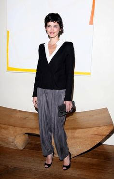 """""""pants...avoid... uncontructed or baggy styles... draped styles with tapered legs""""  imo this isn't the worse thing to do for yourself.  it just isn't the best.   they're awfully pretty..."""