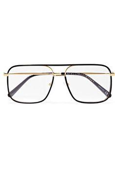 f24bb50c0144c Stella McCartney D-Frame Acetate and Gold-Tone Optical Glasses Optical  Glasses