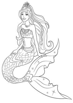 Barbie Mermaid Coloring Pages Mermaids Just Add Water Artist Fantasy - Coloring Page Ideas Candy Coloring Pages, Ariel Coloring Pages, Dolphin Coloring Pages, Fox Coloring Page, Shopkins Colouring Pages, Coloring Pages Winter, Mermaid Coloring Book, Mickey Mouse Coloring Pages, Family Coloring Pages
