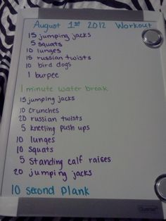 Seems like a simple workout that you can do before a shower.