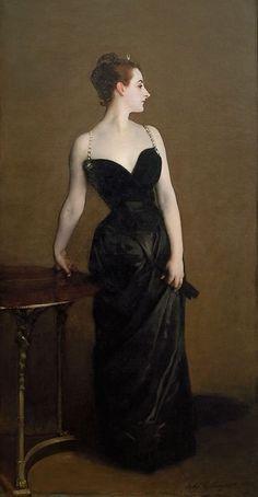 Madame X    John Singer Sargent -- American painter    1884   Metropolitan Museum, New York