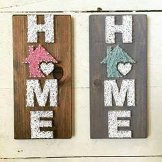 Casa pequeña cadena arte hogar es donde el corazón es