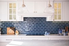 Check out this vital image in order to look into the shown strategies and information on Kitchen Soffit Ideas Blue Kitchen Tiles, Kitchen Splashback Tiles, Navy Kitchen, Blue Backsplash, Subway Tile Kitchen, Kitchen Counters, Splashbacks For Kitchens, Kitchen Soffit, White Kitchens