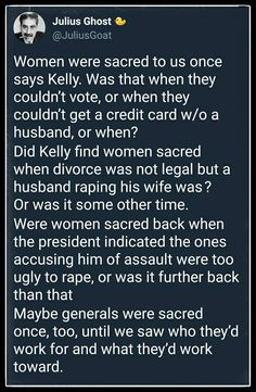 "The return of Twitter user @JuliusGoat, with another woke stream-of-consciousness rant. Pp: ""Kelly is a bigot, too, just like his boss."""