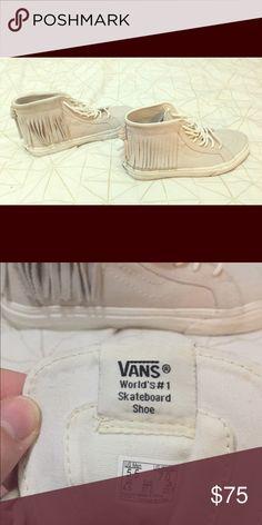 RARE cream fringe Vans Rare color cream Fringe Vans shoes. Size 7 women's. Worn once so super clean, basically brand new! Vans Shoes Sneakers