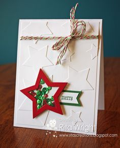 Use red white and blue instead/Rita's Creations: Merry Monday Star Shaker