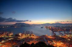 용포토스닷컴 : YongPhotoS.com :: 세상에서 가장 아름다운 부산야경, 신선대 부두