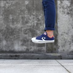 Light as air - New Converse Cons - Star Player Ox in victorian blue leather! http://www.shoeconnection.co.nz/products/CNUZKR4L4UL