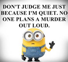 """These Minion Quotes are so funny and hilarious and able to make you laugh.If you read out these """"Best Minion Quote Of The Day"""" suddenly you will start laughing . Best Minion Quote Of The Day Best Minion Quote Of The Day Best Minion Quote Of The Day Best… Funny Minion Memes, Minions Quotes, Minion Humor, Minion Love Quotes, Minion Sayings, Funny Humor, Funny Stuff, Minion Pictures, Funny Pictures"""