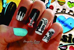 uñas música/ music nails