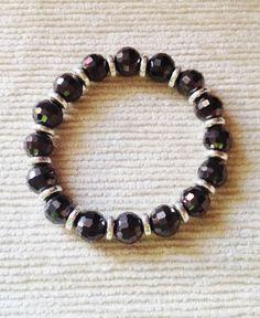 Gunmetal ceramic bracelet by Hellenna on Etsy, £12.00