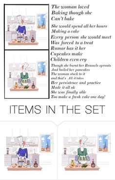 """""""The woman that could not cook"""" by toocutewednesday ❤ liked on Polyvore featuring art"""