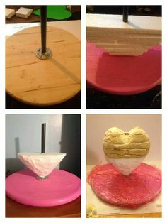 3D heart cake tutorial