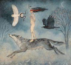 modern viga Dream Symbols, Animal Medicine, Surrealism Painting, Fairytale Art, Art Et Illustration, Art For Art Sake, Mythical Creatures, Spirit Animal, Illustrations Posters