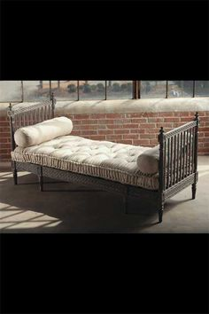Hand carved day bed with tufted mattress (this makes me sleepy)