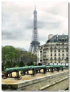 torre Eiffel desde o Hôtel des Invalides