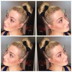 Hairstyle with hot buns